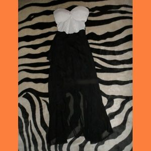 Charlotte Russe Black & White Sexy Strapless Dress
